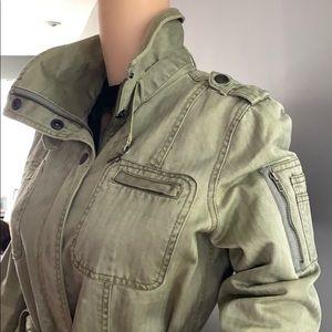 Halogen olive Green Utility military style Jacket